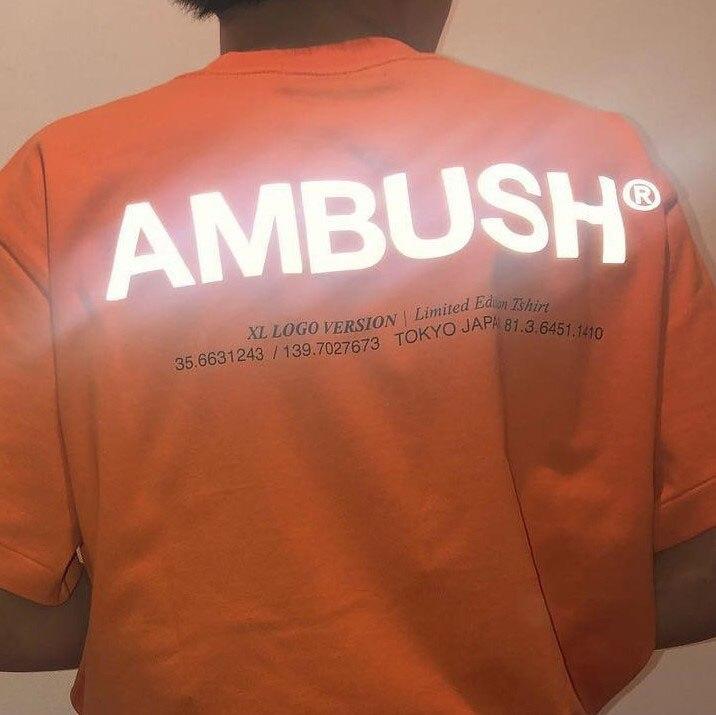 19ss Ambush   T     Shirt   3M Reflective 1:1 High Quality High Street Hip Hop Cotton Top Tees Xxxtentacion Ambush Tshirt