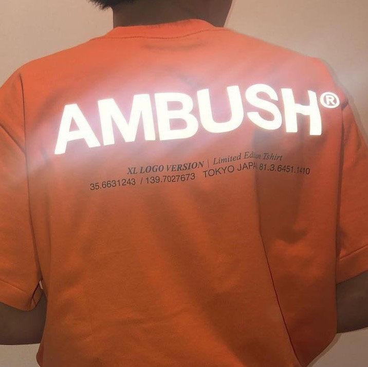 Ambush T Shirt 3M Reflective 1:1 High Quality High Street  Hip Hop Cotton Top Tees  Xxxtentacion  Ambush Tshirt