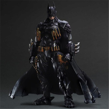 PLAY ARTS 27cm Batman Armored Ver BJD Action Figure Model Toys with Accessories and Base