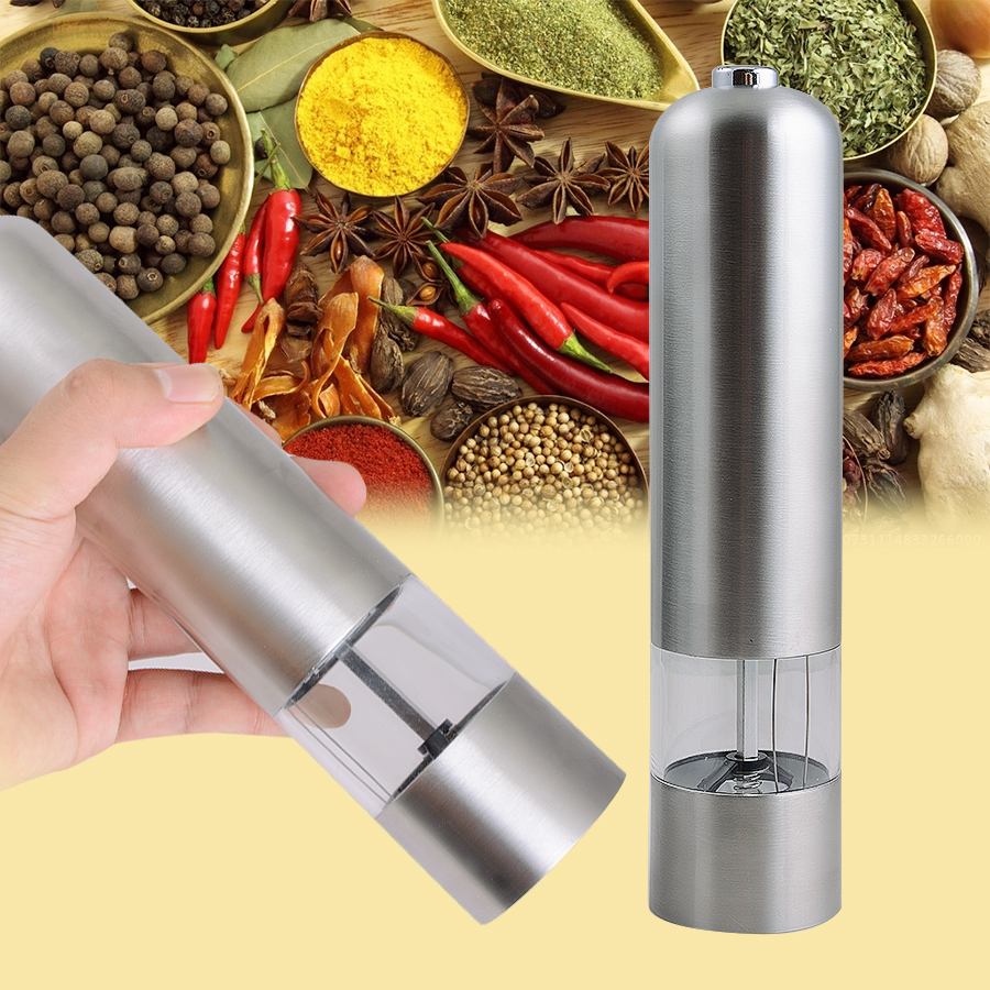 New And Fashion High Quality 2 In 1 Stainless Steel Manual Pepper Salt Spice Mill Grinder Kitchen Accessaries Support Wholesale* portable stainless steel electric pepper spice salt milling grinder red silver 6 x aaa