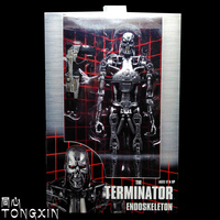NECA Terminator Future Warrior Hand T800 T1000 Mechanical Skeleton Model Birthday Gift Car Ornaments