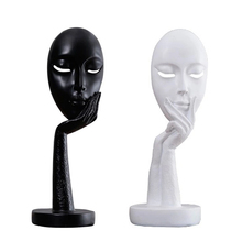 New Fashion Personality Creative Resin Abstract Art Living Room Bedroom Home Office Study Woman Face Decoration Craft