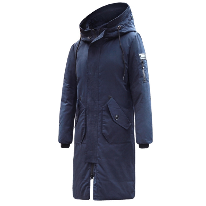 Male Winter High Quality Long   Down   Jacket New Arrival Fashion Hooded Winter Thick Warm Duck   Down     Coat   Brand Clothing Jacket