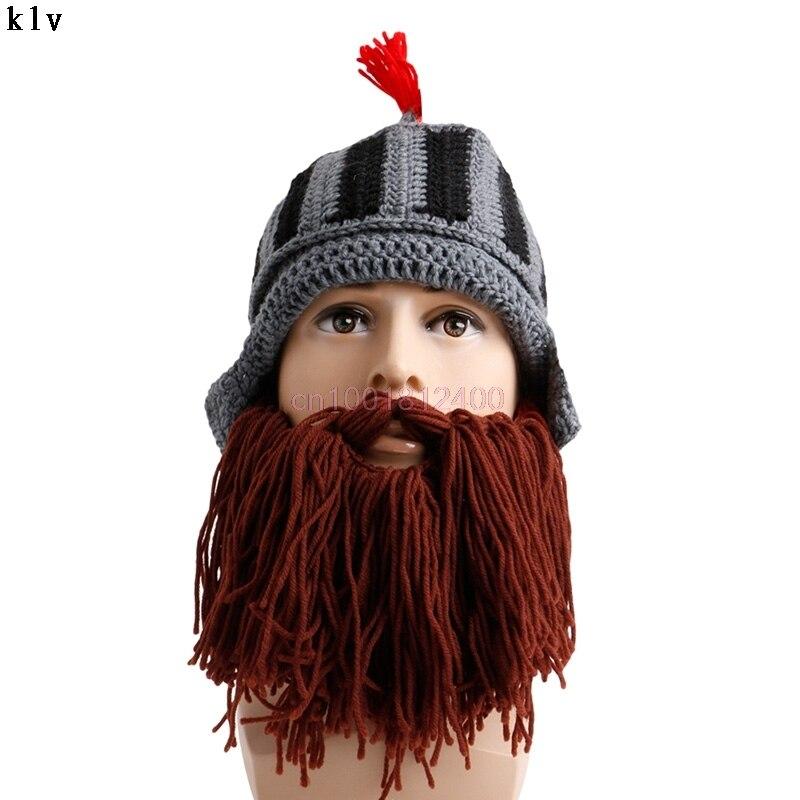 Borla Cosplay sombreros novedad sólida romana Caballero knit casco ...