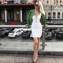 INDRESSME 2018 Women Bandage Dress Sexy Lace Up Sleeveless Bodycon Club Party Dresses New Fashion
