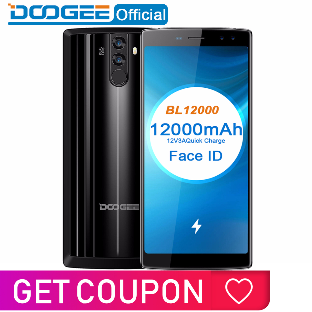 DOOGEE BL12000 Smartphone 12000 mAh carga Rápida 6.0 ''18: octa Núcleo FHD + MTK6750T 9 16.0MP 32 4 GB de RAM GB ROM Quad Câmera Android 7.1