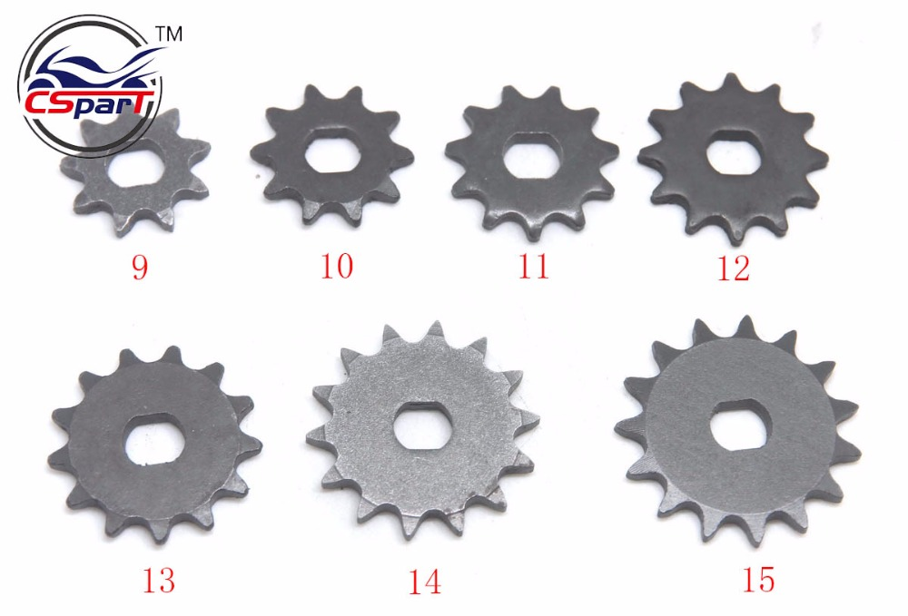 9 <font><b>10</b></font> 11 <font><b>12</b></font> 13 14 <font><b>15</b></font> Tooth 9T 10T 11T 12T 13T 14T 15T T8F Sprocket 10MM For Razor EVO IZIP 500W 1000W Electric Scooter image