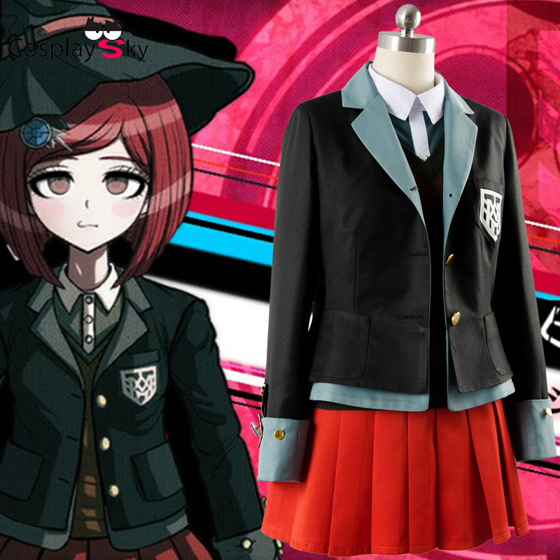 Danganronpa V3 Yumeno Himiko Cosplay Costume custom any size  The New Bullet Rreaks V3 Costume Dress And Uniform