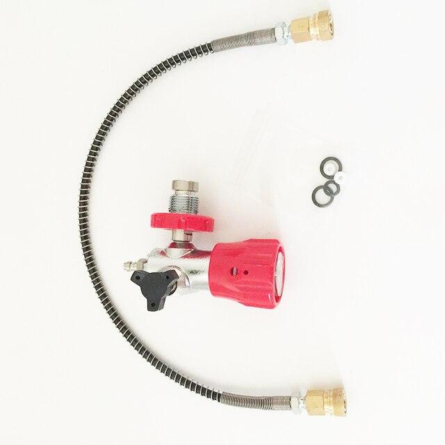 Высокое Качество Pcp Цилиндра Разъем Углеродного Волокна Цилиндр Разъем от Большой Бутылки Маленькая Бутылка Адаптер Клапана из Китая
