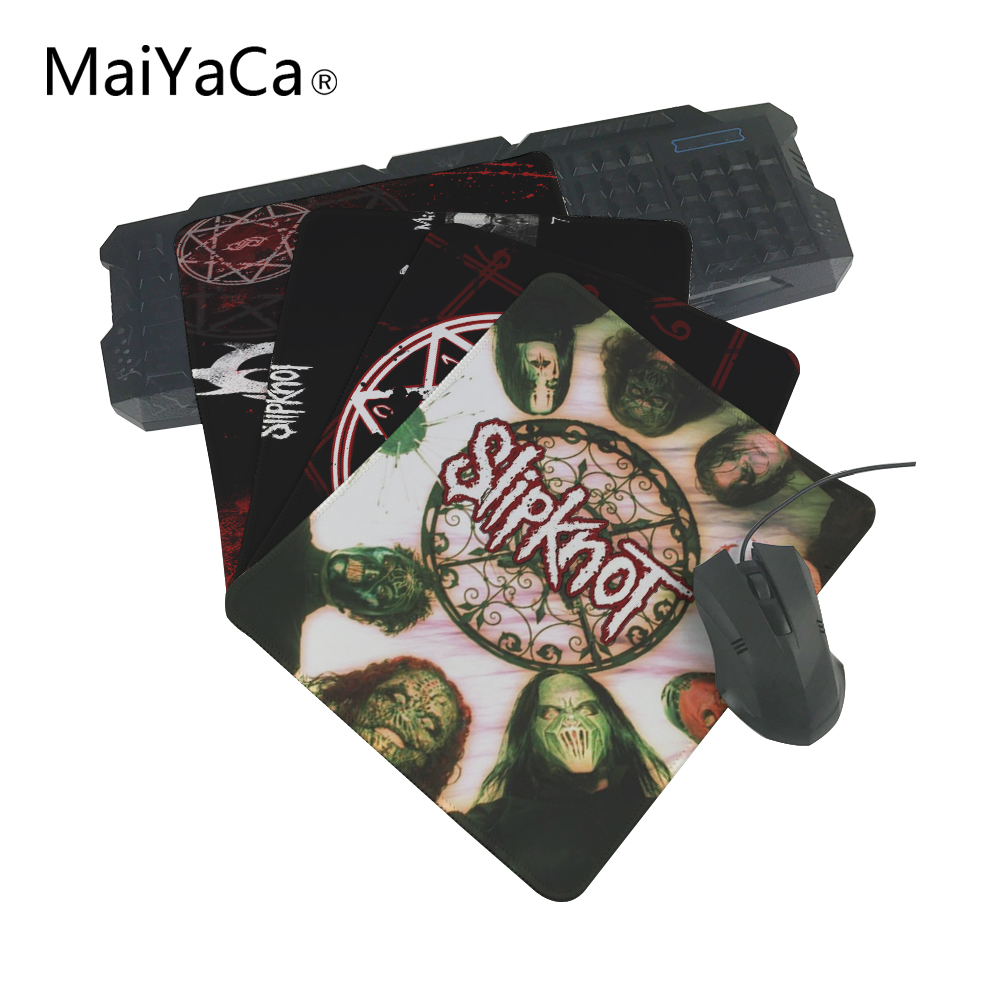MaiYaCa Selling Luxury Print Item Slipknot Rock Mouse Pad Game Gaming Durable PC Anti-slip Mouse Mat for Optical/Trackball Mouse