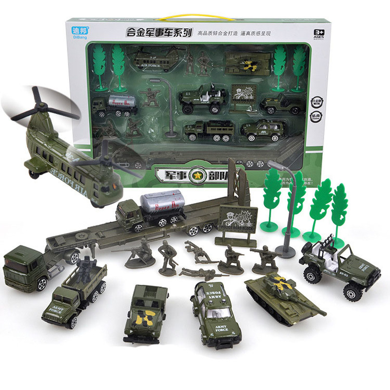 Fashion Exquisite Sliding Alloy Car Module Simulation Helicopter Tank Armored Car Model Educational Toys