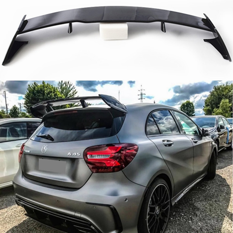 for <font><b>Mercedes</b></font> <font><b>W176</b></font> <font><b>A</b></font> <font><b>Class</b></font> 5-door Hatchback 2013 - 2018 A180 A200 A250 A45 AMG Style ABS <font><b>Rear</b></font> Boot <font><b>Spoiler</b></font> Tail Lid image