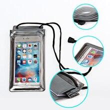 Capa universal mergulho à prova d' água à prova d' água cheia phone pouch bag para iphone 5 7 5S se 6 6 s plus cinto case subaquática clara(China (Mainland))