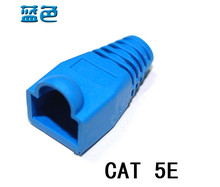 Blue Eco-friendly RJ45 crystal head sheath ethernet cable protective casing A pack of 1000pcs/bag