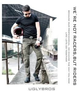 Image 3 - Mais novo quente vendas uglybros motorpool ubs06 jeans lazer calças de brim da motocicleta do exército locomotiva motor calças duas cores