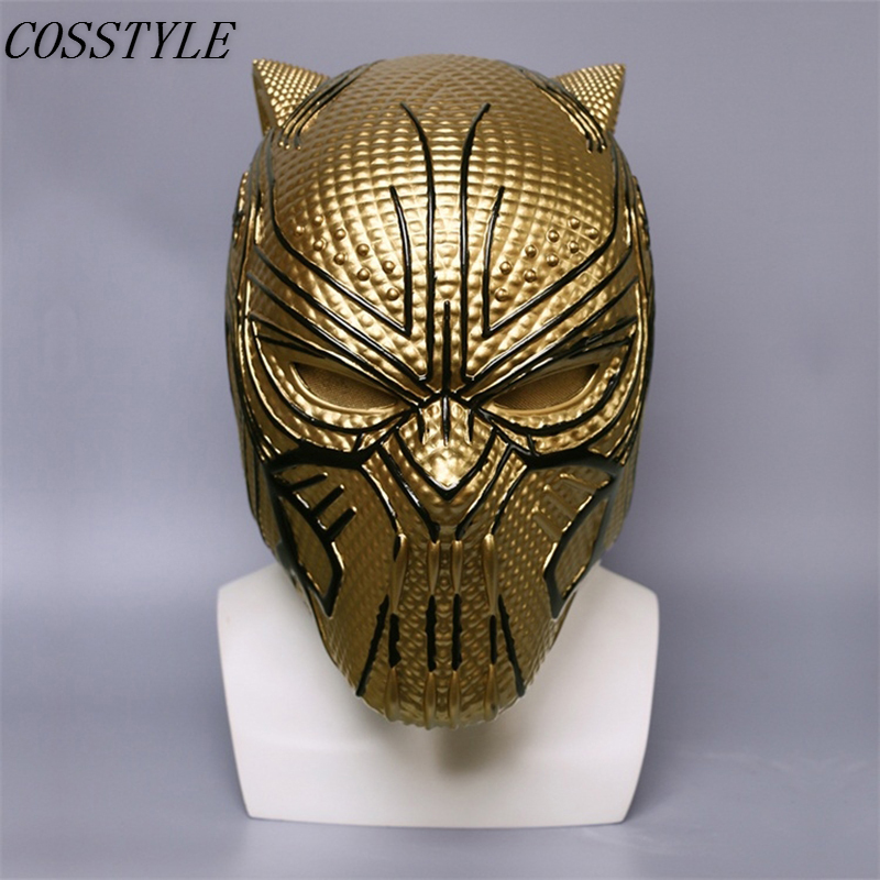 2018 New Movie Black Panther Cosplay Erik Mask Panthera Pardus