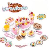 75Pcs Kitchen Toys Pretend Play Cutting Birthday Cake Food Toy Kitchen For Children Cocina De Juguete