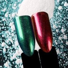 T-TIAO CLUB Mirror Nail Glitter Magic Powder Dust Micro Holographic Laser Art Decorations Manicure Tool