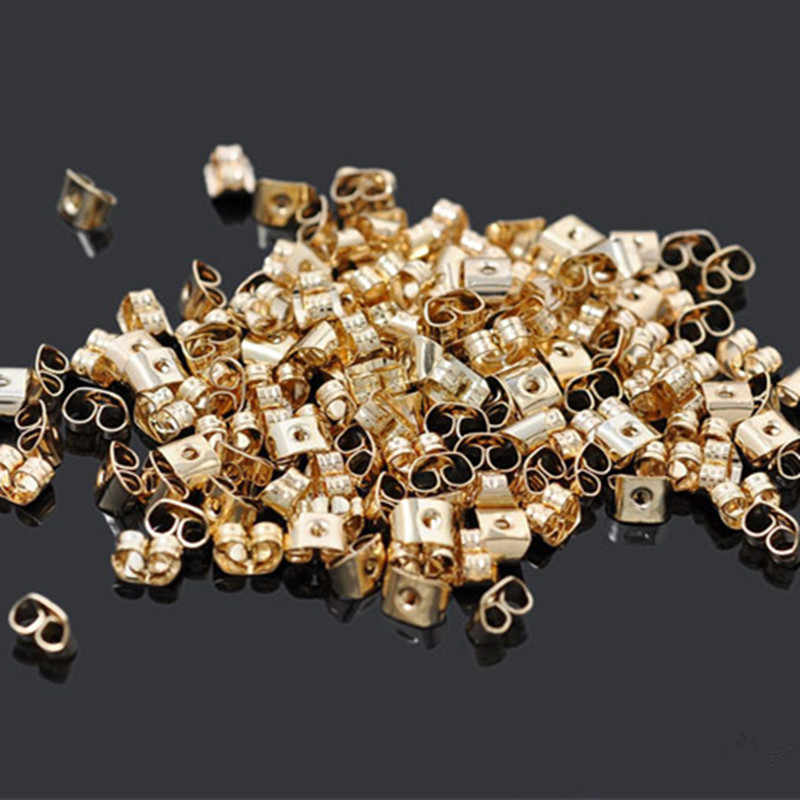 100pcs Earrings set finfing earring back Stopper stud Butterfly Components brincos Jewelry making beads spacer Parts Accessorie