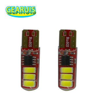 100 pcs Iluminacao de flash T10 6 smd 5630 5730 silicone 194 W5W e Dois modos de Operacao Do Carro do flash strobe light lampada