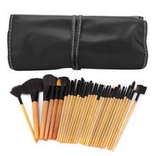 Makeup Brushes 32Pcs Raw Wood Makeup Brushes Set Eyeshadow Foundation Blush with Storage Bag Eye Makeup Brushes(China)
