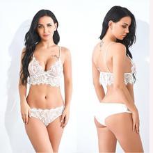 Womens Sissy Sexy Lace Lingerie set lace Bra G-string exotic set Underwear micro Bikini ex