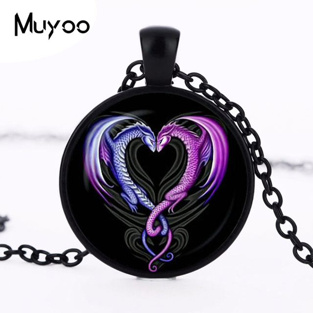 2017 new hot heart necklace dragons heart pendant purple color 2017 new hot heart necklace dragons heart pendant purple color double dragon pendant valentines day mozeypictures Gallery