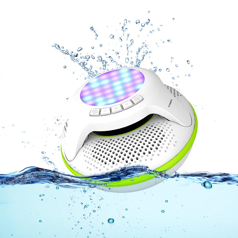 Cowin Portable Bluetooth Speaker Outdoor Microphone-Stereo Sound 10W Tf-Card 3D Swimmer-Pro