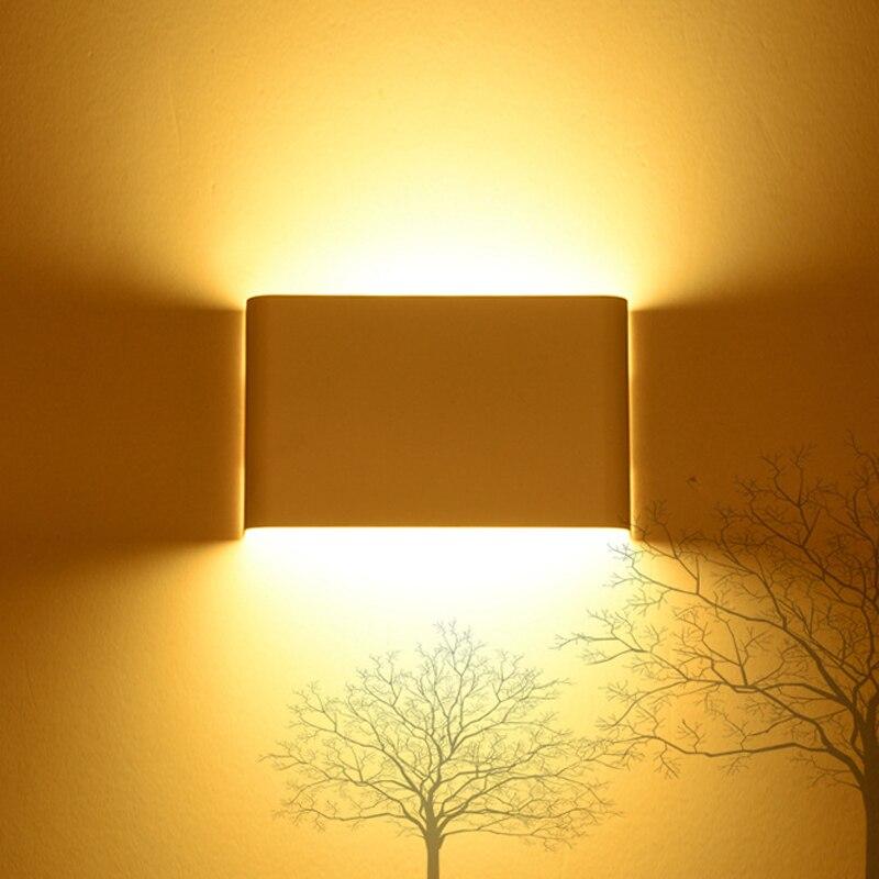 Современный минималистский светодиодный настенный светильник 5 Вт 14 Вт 24 Вт 36 Вт 85 ~ 265 В ночники стены лампа ванная комната зеркало свет прям...