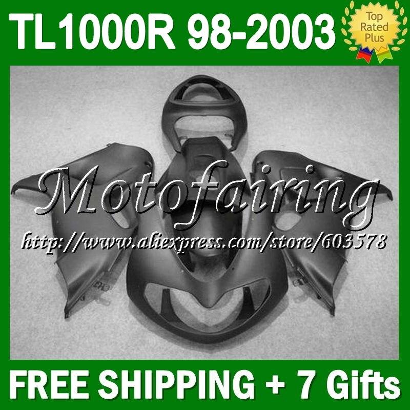 7 подарки для SUZUKI 98 99 00 01 02 03 плоский черный TL1000R TL1000 R TL 1000R 1000 R # 246 зализа 1998 1999 2001 все матовый черный 20