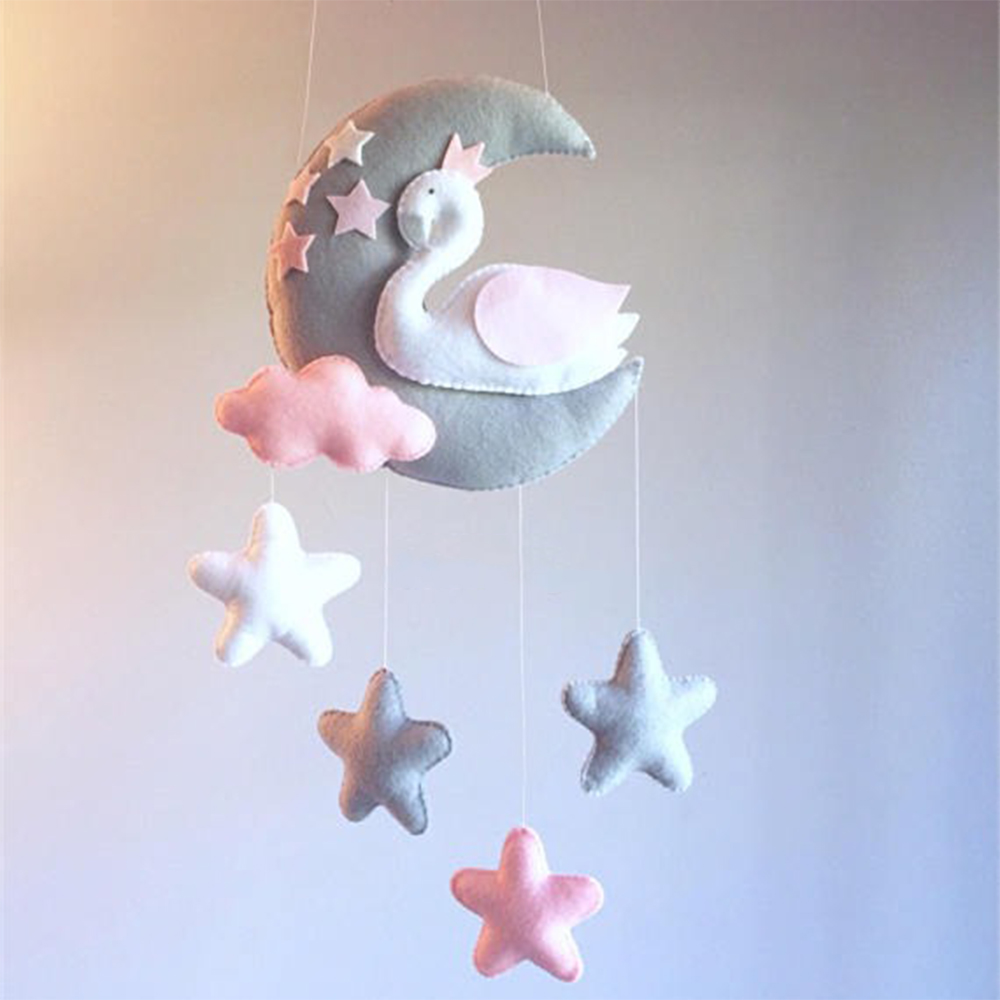 Pregnant Mom Handmade Baby Rattles DIY Birthday Gifts Toys For Babies Bed Bell Material Package Toy Newborn Crib Mobile Kid Toys