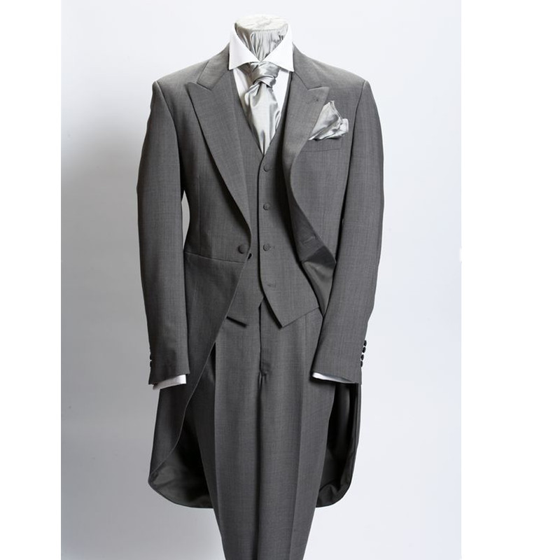 Custom Made Beige New Men's Wedding Suits Groom Tuxedos Business Party Suits (Jacket+Pant+Vest) Formal Groomsman Tuxedos