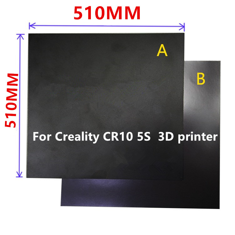 1set 510x510mm Heatbed Magnetic Adhesive sticker Flex Build Plate A+B pc insulation film kit For Creality CR10 5S 3D printer