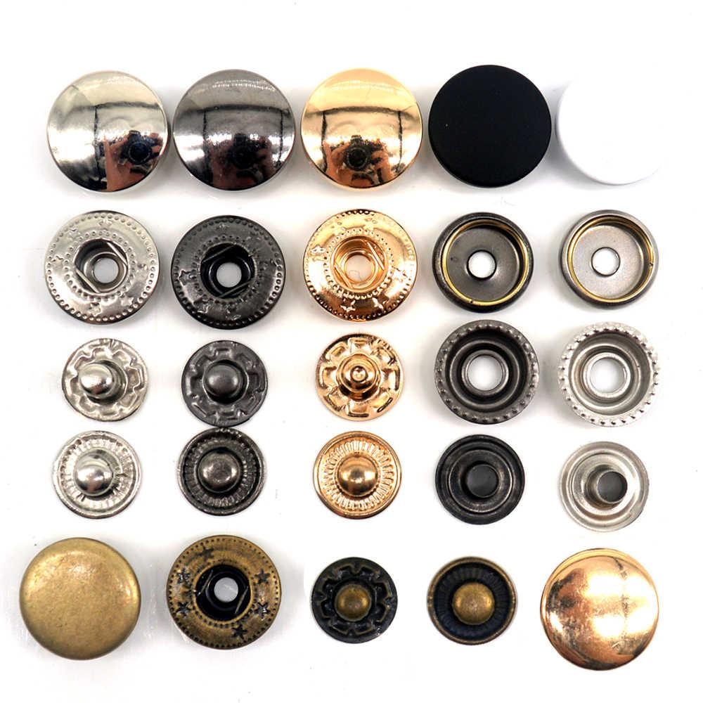 30Sets Metalen Messing Drukknopen Naaien Knop Drukknopen Naaien Lederen Craft Kleding Tassen Handgemaakte Diy 831/633/655/201/203