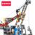 O envio gratuito de big 26 cm de metal do veículo modelo de construção kits cabeças guindaste iluminai educação assemblage diy brinquedos presentes para o menino gril