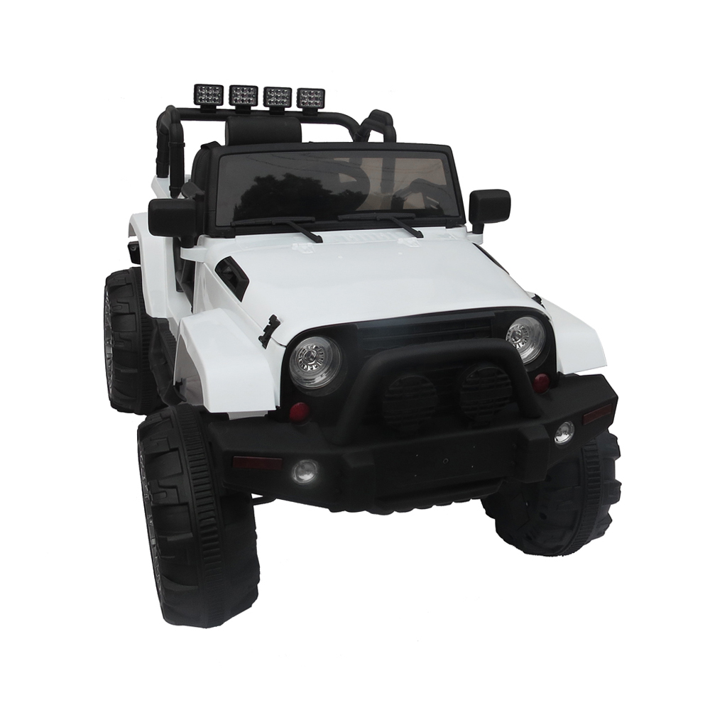 12V Kids Ride On Car SUV MP3 RC Remote Control LED Lights White Off-Road Vehicle For Children Christmas Gift wildo fold a cup