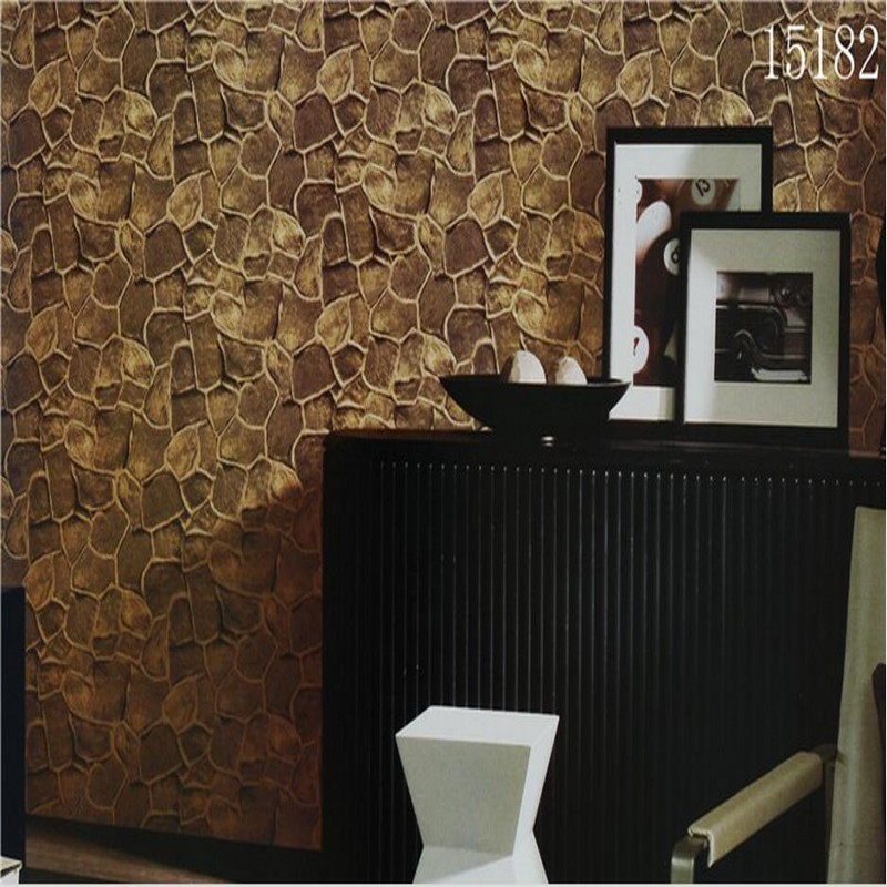 beibehang 3D stereoscopic imitation stone grain wallpaper can be cleaned tearoom box chamber staircase corridor wallpaper beibehang can be scrubbing simple