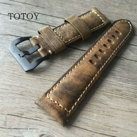 Handmade Magic Discoloration Style Cowhide Watchbands 20MM 22MM 24MM 26MM Retro Men Leather Watchbands Fast Delivery