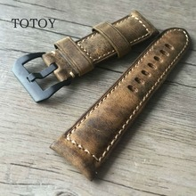 Handmade Magic Discoloration Style Cowhide Watchbands, 20MM 22MM 24MM 26MM Retro Men Leather Fast Delivery