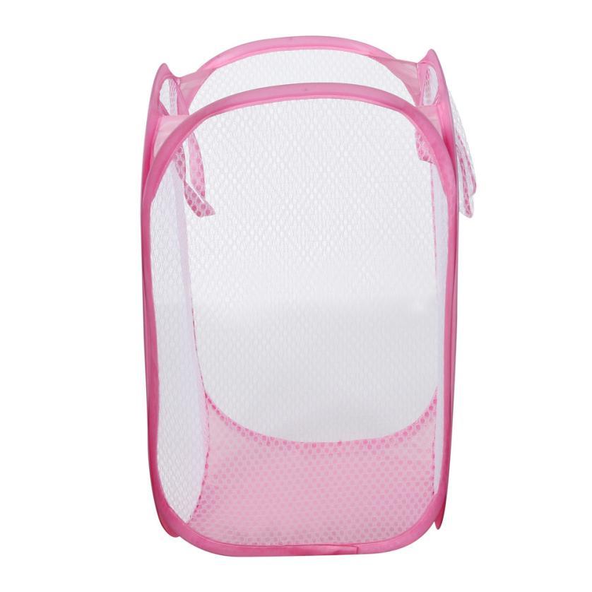 laundry basket dirty clothes storage Pop Up Washing laundry basket foldable Bag Hamper Mesh Storage Pueple Drop shipping