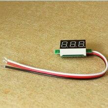 1pcs/lot Digital Voltmeter DC 0V to 40V 0.36 inch LED Digital Panel Meter Voltage tester RED/GREEN/BLUE monitor 33*15*10mm(China (Mainland))