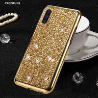 Glitter macio silicone caso para samsung galaxy a50 a 50 2019 a505 a505f SM-A505F caso do telefone de luxo bling tpu capa