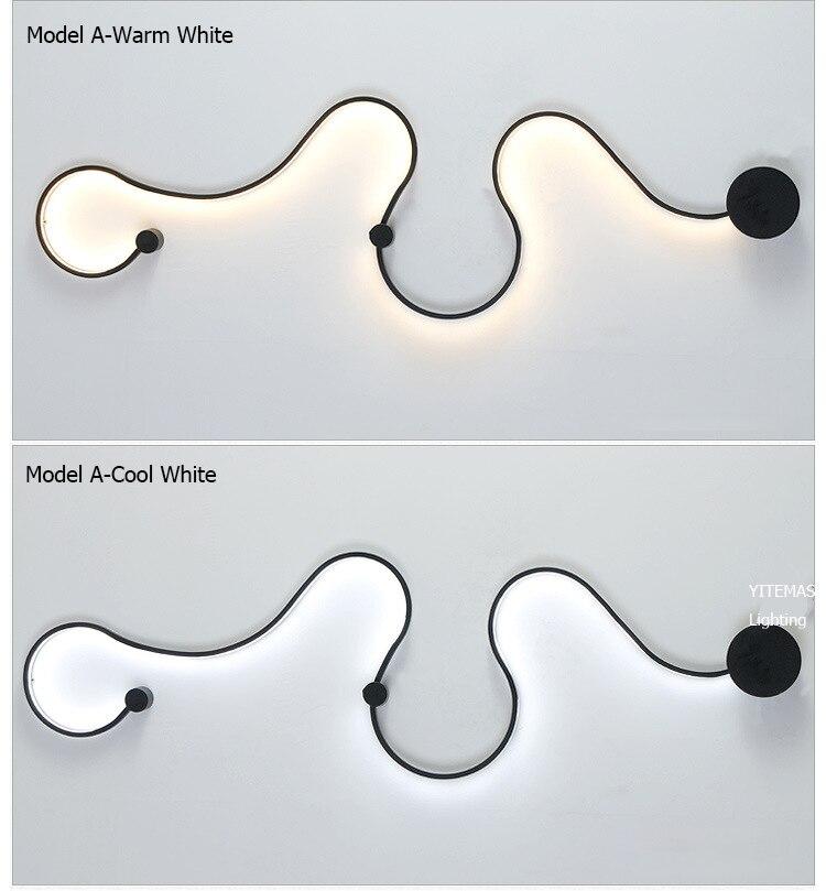 HTB11Dg0VxjaK1RjSZFAq6zdLFXaM - Sconce/led wall lights dimmable/bedroom/bedside wall lamps modern/black/white wall lamps for home/living room/foyer aluminum