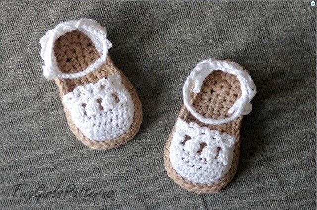 Free Shippinglight Tan Pink Fuchsia Crochet Baby Sandals Baby