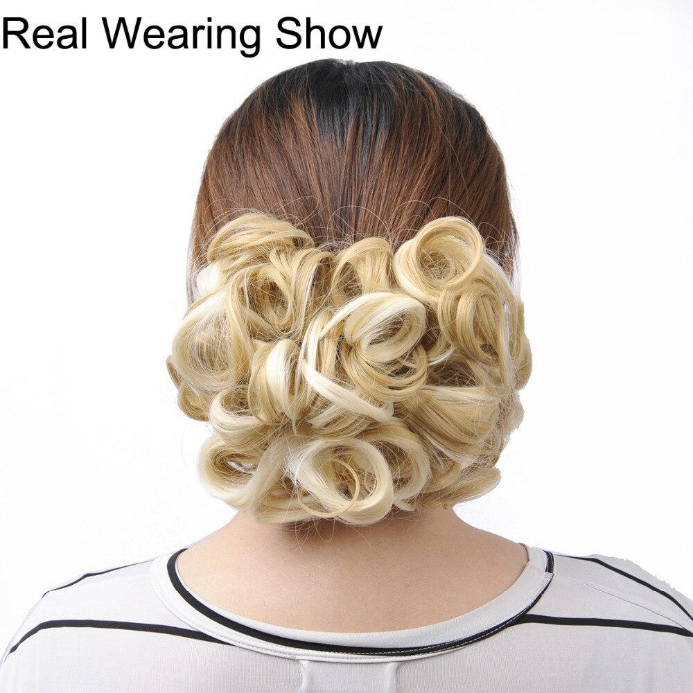 DELICE Σύντομη σγουρή συνθετική ξανθιά - Συνθετικά μαλλιά - Φωτογραφία 6