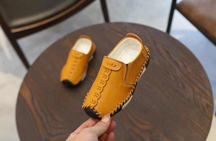 do bebê moda costura sapatos casuais couro