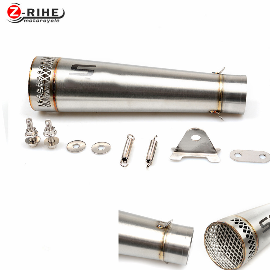 Universal for SC New Motorcycle Reupholstery Exhaust Pipe With Laser Label entrance fiber tube For Triumph Bonneville SE T100 Bl universal id 61mm motorcycle exhaust pipe with sc laser marking logo for large displacement motorcycle with full set accesories
