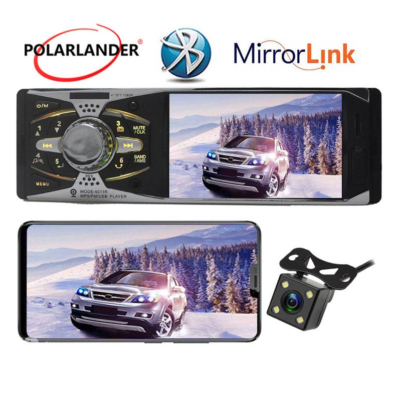 new 4.1'' inch 16:9 TFT screen 12V car audioMP3 MP4 MP5 Player Bluetooth 1din in dash Car Audio SD/MMC support rear camera