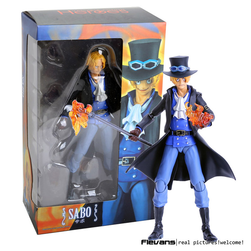 ФОТО megahouse variable action heroes one piece sabo pvc action figure collectible model toy 18cm