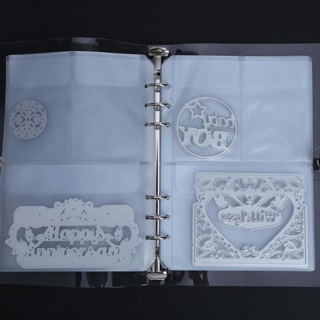 10 Sheets Cutting Dies Storage Book Case Collections Stencil For DIY  Scrapbooking Transparent Dies Storage Organizer